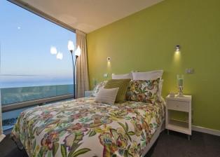 Das zweite von insgesamt drei Schlafzimmern im Strandhaus Neuseeland.