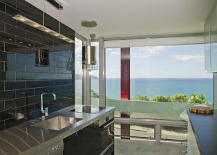 A great kitchen in NZ, with an exceptional view of the ocean. House for sale.