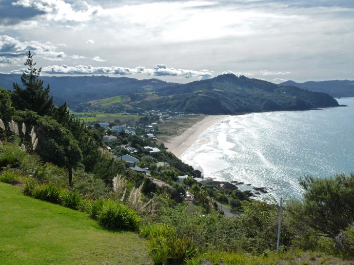 View from Paku Hill on Tairua Beach. Photo: Copyright Dietmar Gerster
