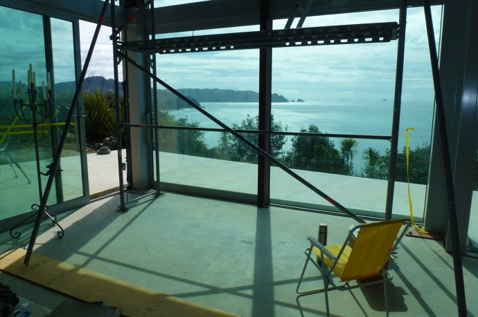 Construction Site. Home in New Zealand to sell. Photo: Copyright Dietmar Gerster